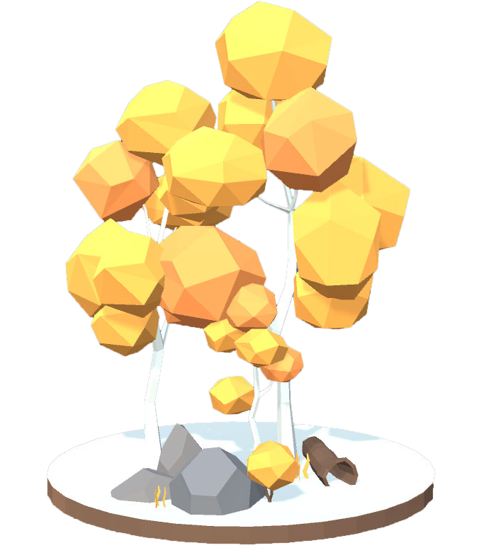 Low poly tree asset